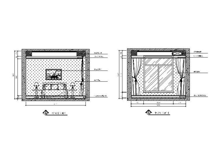 【山西】美式风格跃层公寓设计CAD施工图(含效果图)_5