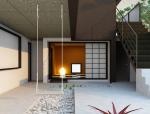 简约现代庭院3D模型下载