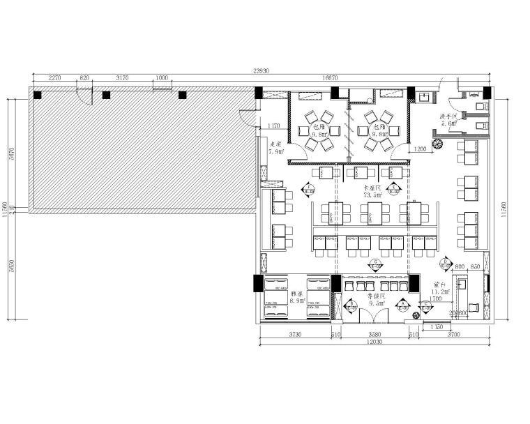 茶餐厅 图纸深度:施工图 设计风格:现代风格 图纸格式:jpg,cad2000