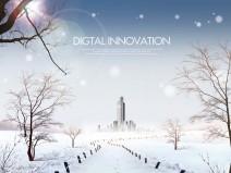 8套景观雪景效果图PSD分层素材(含:雪景素材)