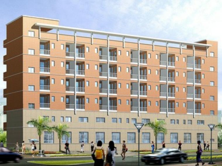 4405平米五层框架职工宿舍结构计算毕业设计(Word.99页)