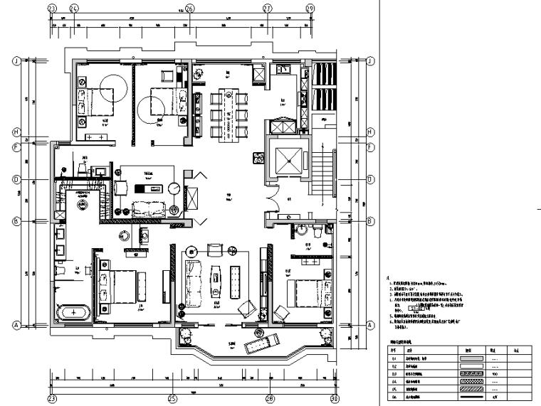 东方雅致意韵|正弘瓴当代中式样板间设计施工图(附效果图)