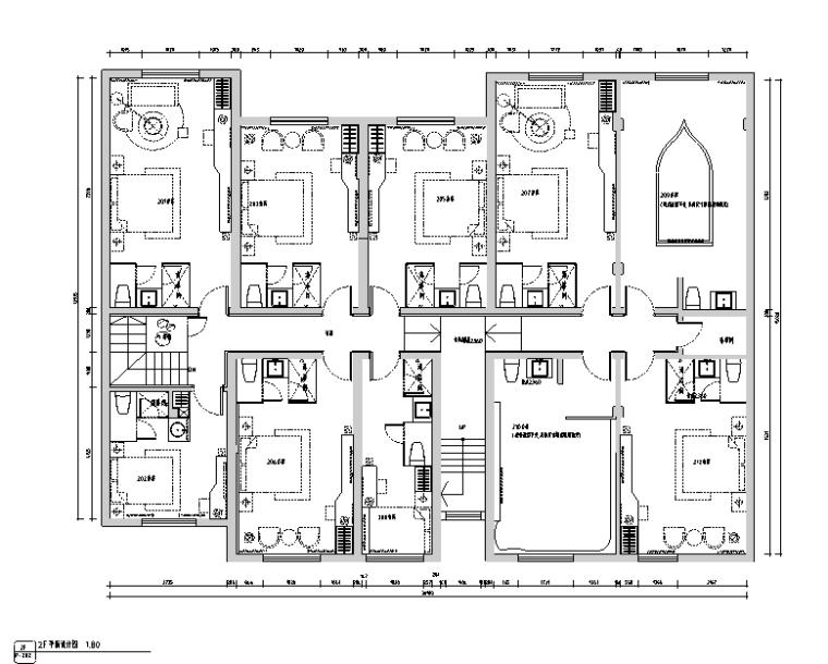 [江苏]670平米现代古典风格精品酒店设计施工图(附效果图)