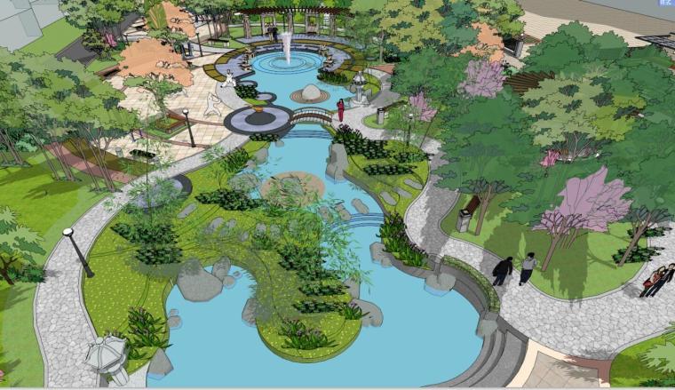 现代居住区景观设计模型