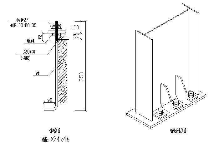 河南火电厂单跨门式刚架厂房钢结构工程施工图(CAD,8张)_5