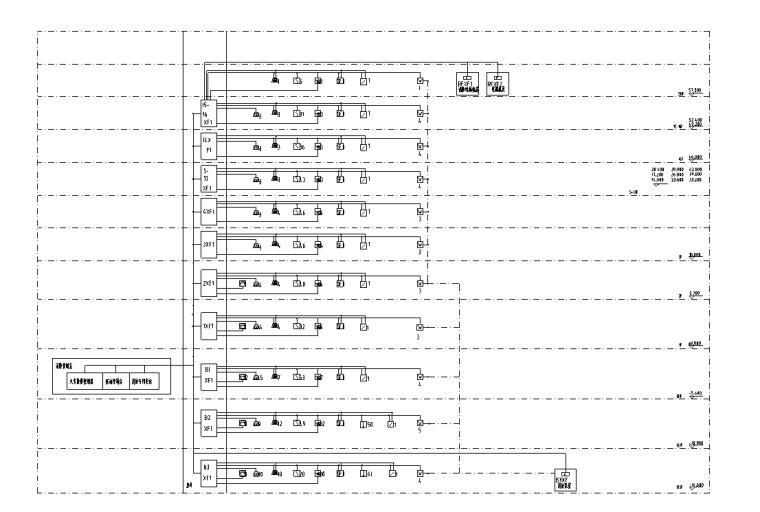 北京十六层框剪结构宾馆强电消防设计图纸