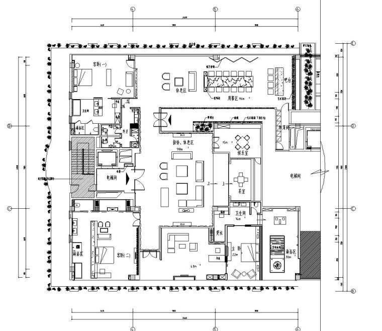 新中式风格水墨江南套房施工图设计(CAD+效果图)