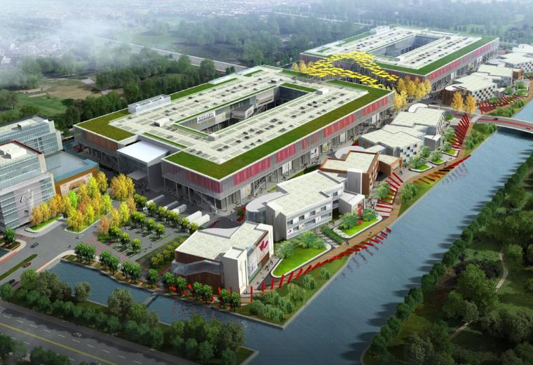 [上海]吉盛伟邦绿地国际家具村商业区景观规划设计文本(84页)