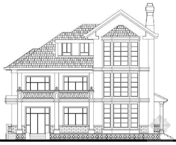 某三层现代别墅建筑户型(c2别墅)方案图纸世界我乘建10的10图片