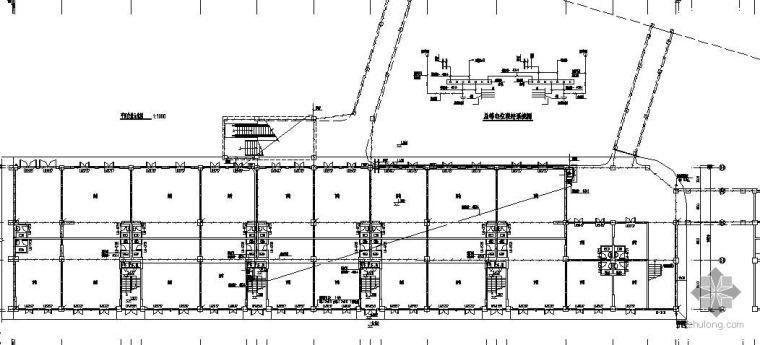 某小区底层商铺基础接地总等电位平面图