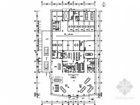 [湖北]现代风某奔腾汽车4S店室内装修图(含效果)