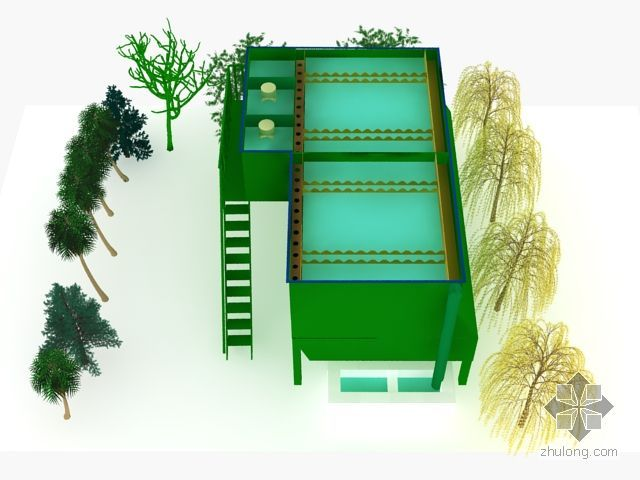 污水处理沉淀池模型