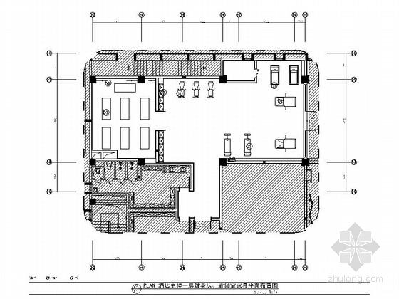 [西藏]时尚五星级酒店健身瑜伽室装修施工图(含效果图)