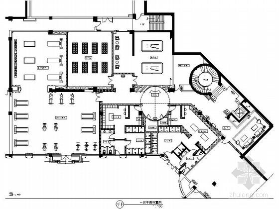 [乌鲁木齐]首家典雅欧式风格休闲会所室内装修施工图(含效果)