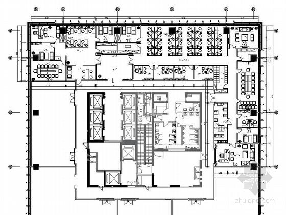 [辽宁]著名现代风格证券分公司室内装修施工图(含方案)