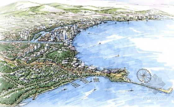 滨海生态知名地产区概念性商业综合体设计效果图