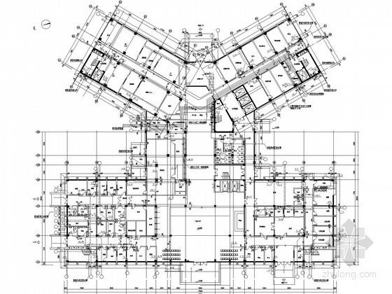 [四川]医院门诊住院综合楼及附建给排水消防施工图(气体灭火)