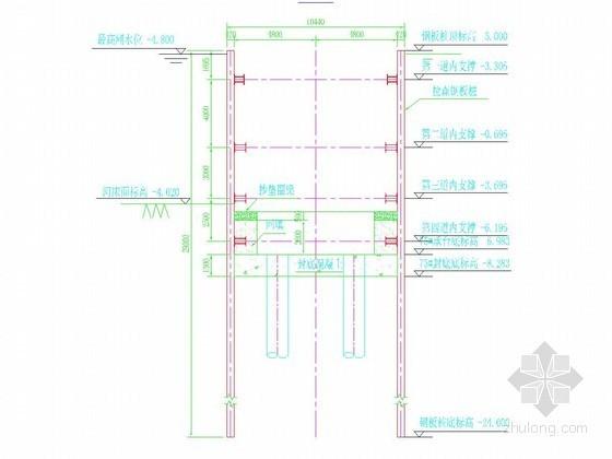 [浙江]特大桥深水基坑钢板桩围堰支护施工方案(附计算书 施工图)