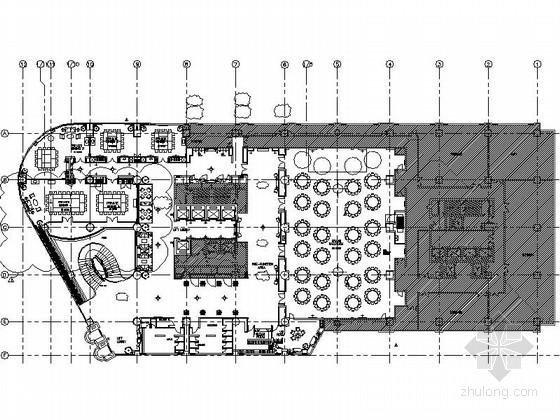 [重庆]五星大酒店宴会厅室内设计CAD施工图