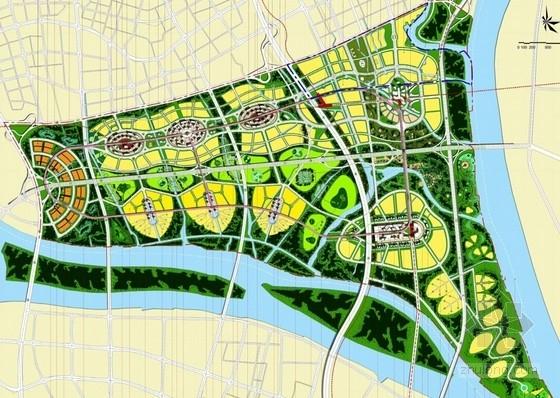 知名片区规划及单体建筑总平面图