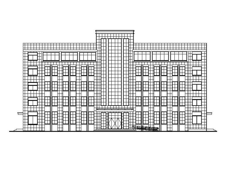 [浙江]五层框架结构石漆外墙宿舍楼建筑施工图