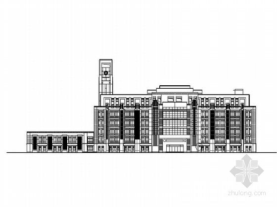 [上海]10层现代风格高校图书馆建筑施工图(知名设计院)