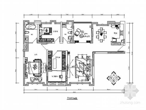 [湖南]奢华欧式风格三居室装修施工图(含效果图)