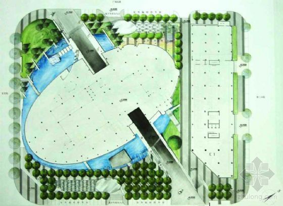 [天津]图书馆室外环境景观方案设计