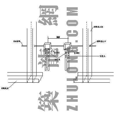 轻钢龙骨隔墙墙内地面引上配管安装做法图示
