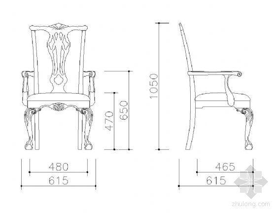 中式特色桌椅图块集