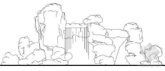 假山叠水大样图