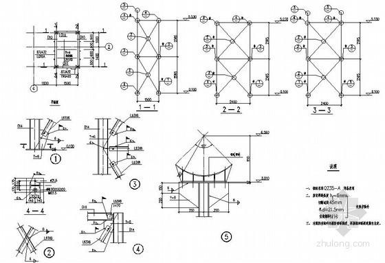 煤气管道阀门操作平台设计图