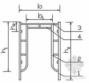 某教学楼钢门式高支模支撑施工方案计算书