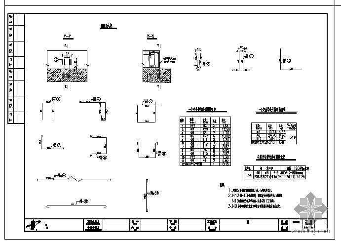 混凝土方格骨架护坡图资料下载-某中桥20m普通钢筋混凝土T梁设计图