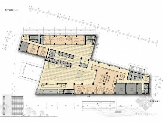 [新疆]独创现代石油工程综合性服务企业办公楼设计方案图