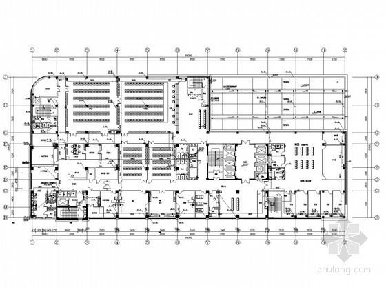 [浙江]多层中医院综合楼给排水消防施工图(气体灭火系统)