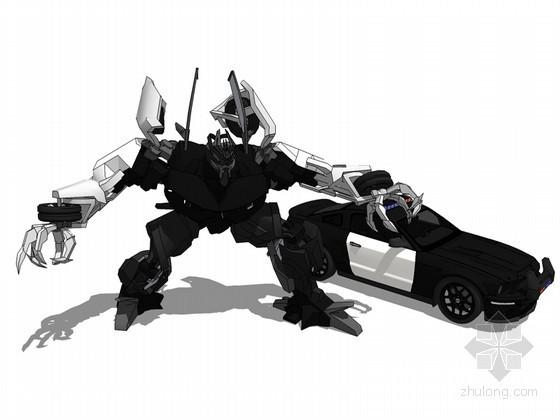汽车机器人SketchUp模型下载