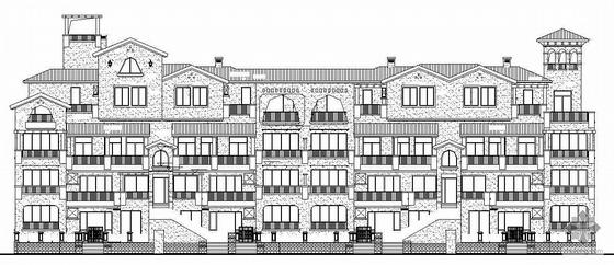 [惠州市]某四层A型花园洋房建筑结构水暖电施工图