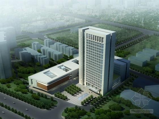 [河南]某20层行政办公楼建筑方案文本(含CAD)
