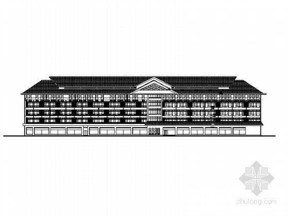 [海南]地中海风格五层医疗保健中心建筑施工图