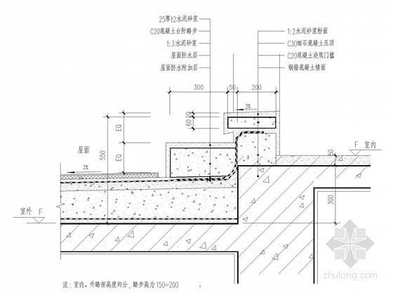 [江苏]超高层酒店屋面防水节点图