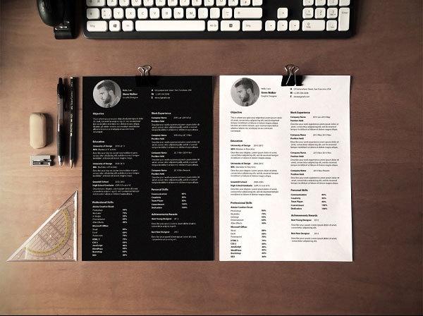 设计师专用简历模板,肯定有你需要的