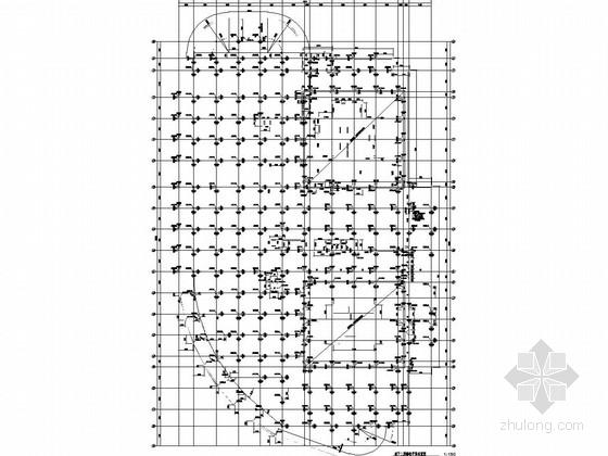 [上海]18层双塔网状钢框架核心筒结构办公楼结构图
