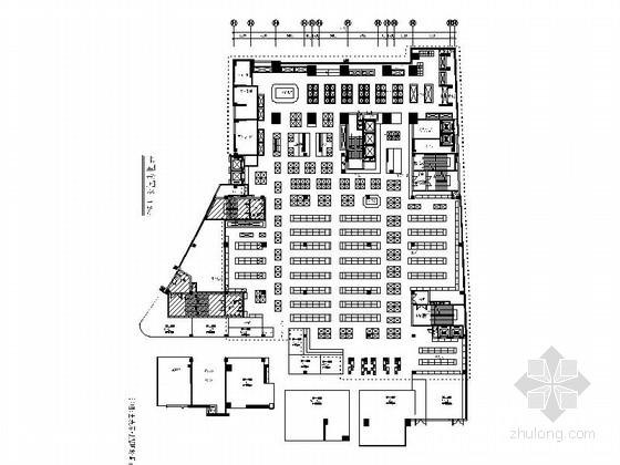 [广东]时尚高档大型生活超市CAD装修施工图(含效果)