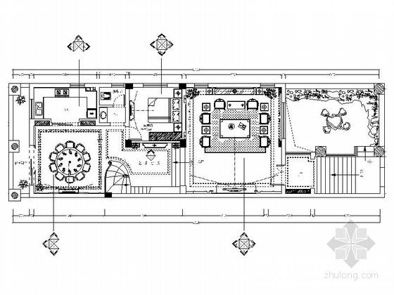 [江西]知名房产新中式三层别墅装修施工图