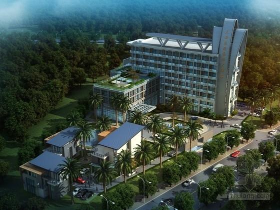 [海南]简约风格商务酒店建筑设计方案文本(含CAD)