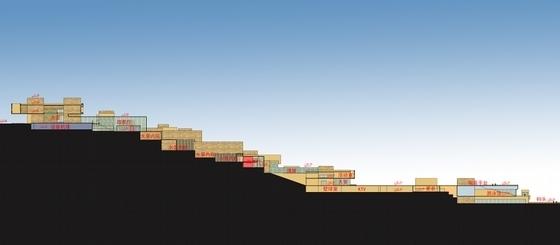 [鄂尔多斯]黄河文化主题星级山地酒店建筑设计方案文本-黄河文化主题星级山地酒店示意图