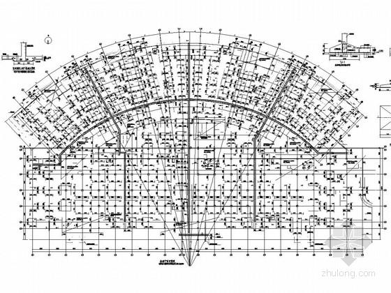 [医院]16层框剪病房楼及四层框架门诊医技楼结构图