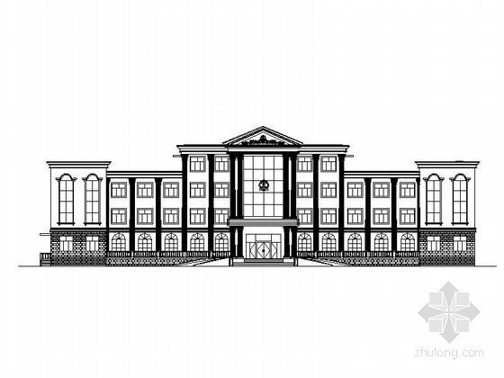 [海南]多层罗马风格行政办公楼建筑施工图