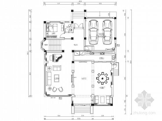 [江苏]欧式豪华顶尖独栋别墅CAD施工图(含效果图)